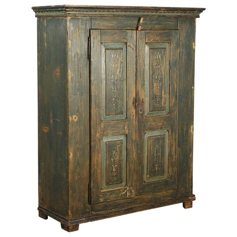 antique painted armoire antique original painted green two door armoire lithuania