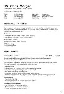 Exle Of Resume Cv by Curriculum Vitae Exles Jobcred