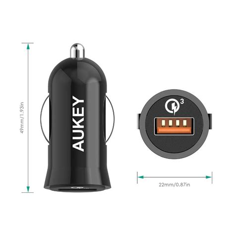 Diskon Aukey Qc 3 0 Car Charger 4 Usb Port Free Cable aukey charger mobil 1 port 19 5w 3a qc3 0 cc t10 black