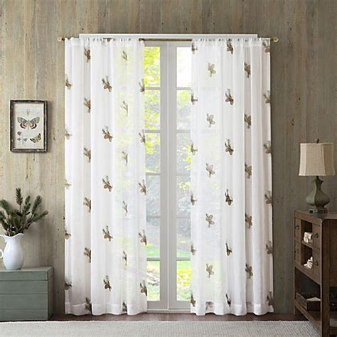 window sheer curtains pinecone sheer window curtain panel bed bath beyond