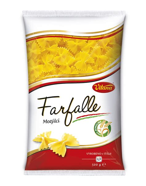 carbohydrates 100g cooked pasta farfalle vitana