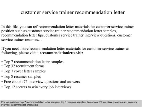 Customer Service Upgrade Letter Customer Service Trainer Recommendation Letter