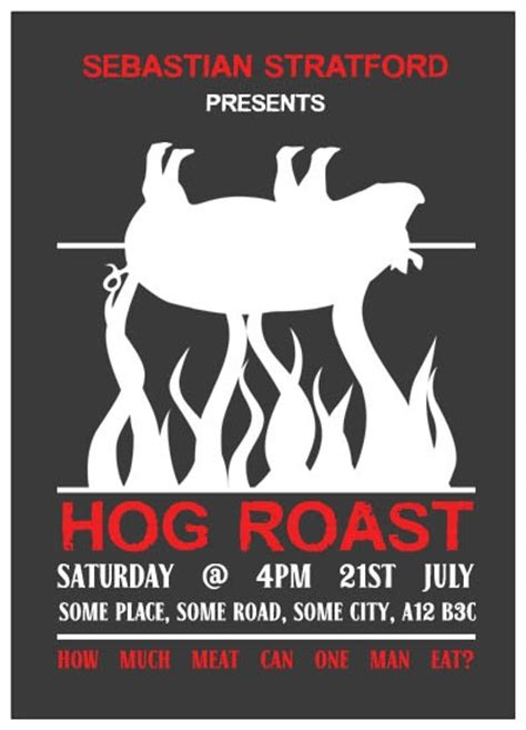 Pig Roast Flyer Template Templates Kinz On Download Free Karaoke Flyer Psd Templates For Hog Roast Flyer Template
