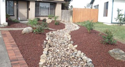 rock landscaping for front yard outside creations