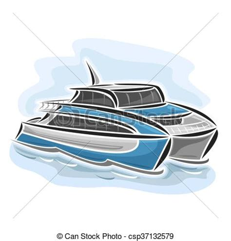 catamaran lines drawing vectors illustration of ferry catamaran vector