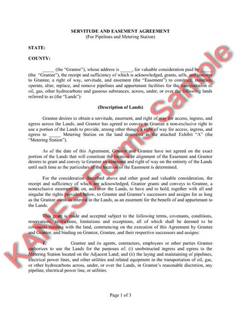 easement template easement greement sle free printable documents