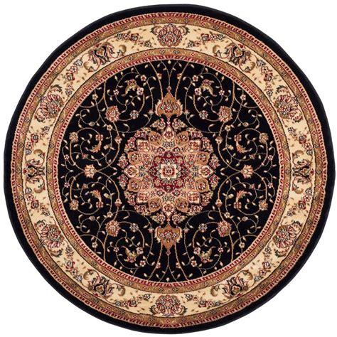 4 ft rug safavieh montauk black ivory 4 ft x 4 ft area rug mtk712d 4r the home depot