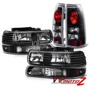 1999 2002 chevy silverado 1500 2500 black headlights bumper signal