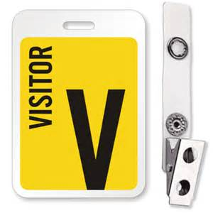 visitor badge template visitor id badge reusable name badge with bulldog clip