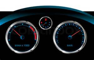 dashboard car tachometer, speedometer and fuel level