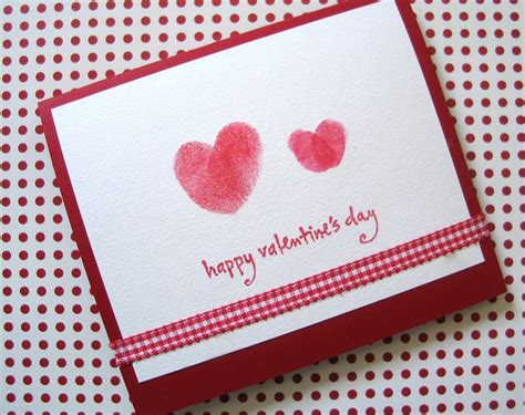 Handmade Valentines Cards - from the valentine s day thumbprint cards