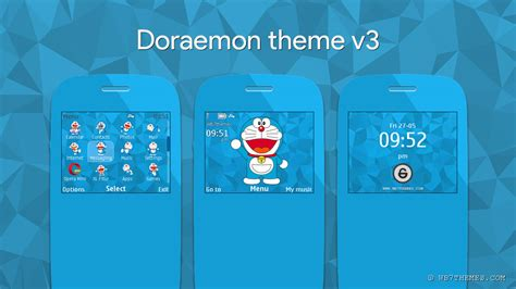 doraemon themes for nokia e5 doraemon theme v3 for asha 302 210 205 201 200 c3 00 x2 01