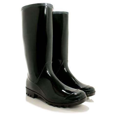 wellies boots new womens festival welly wellies wellington flat knee