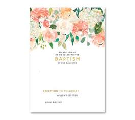 baptism invitations template free floral baptism invitation template dolanpedia