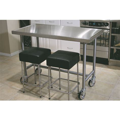 stainless steel kitchen island table 24x36 with adjustable chef tables counter top edge chef table by advance tabco