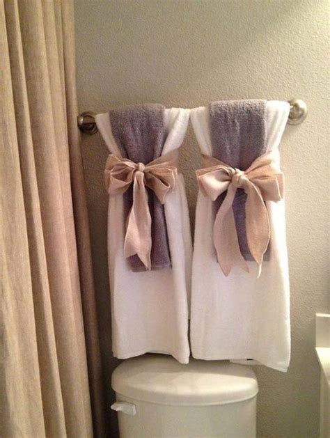 bathroom towel hanging ideas home decor 15 diy pretty towel arrangements ideas