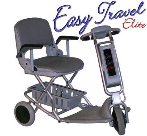 easy travel chair easy travel elite from tzora foldable power scooter
