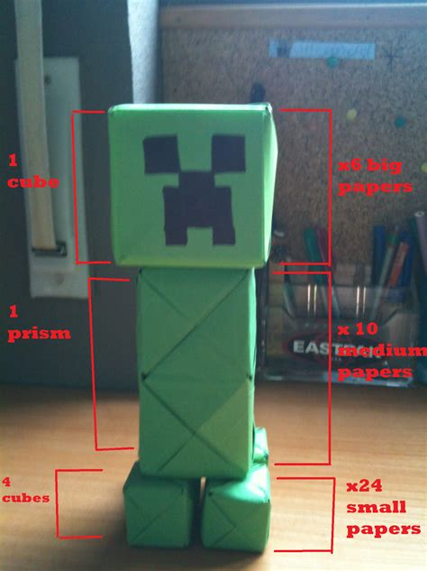 How To Make A Paper Creeper - origami and stuff paper creeper minecraft
