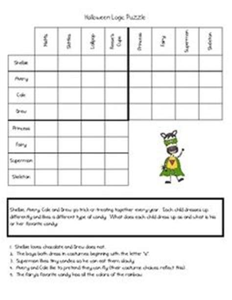 free printable halloween logic puzzles 1000 images about logic for kids on pinterest logic