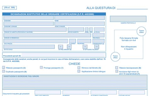 questura di como ufficio passaporti rinnovo passaporto modulo per la richiesta e guida