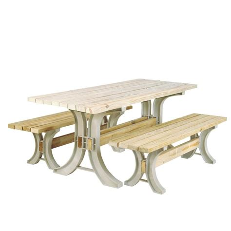 Lowes Picnic Table by Shop 2x4basics Sand Polyresin Picnic Table Brackets At