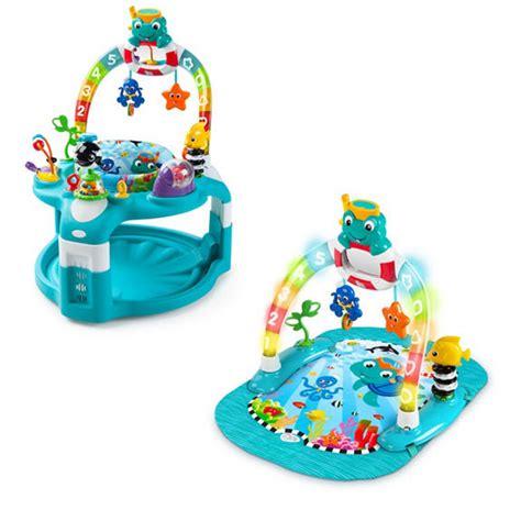 baby einstein swing 2 in 1 lights sea activity gym saucer