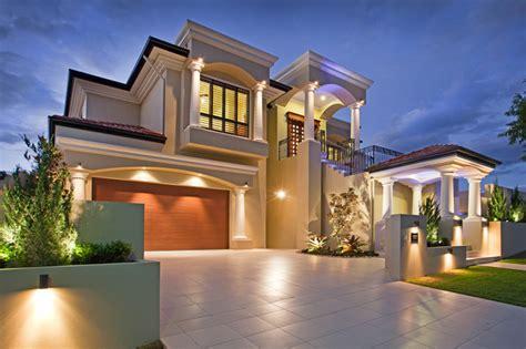 Mediterranean Home Style Mediterranean Style House Build With Hardi Columns