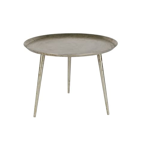 edison metal small side table in silver 28781