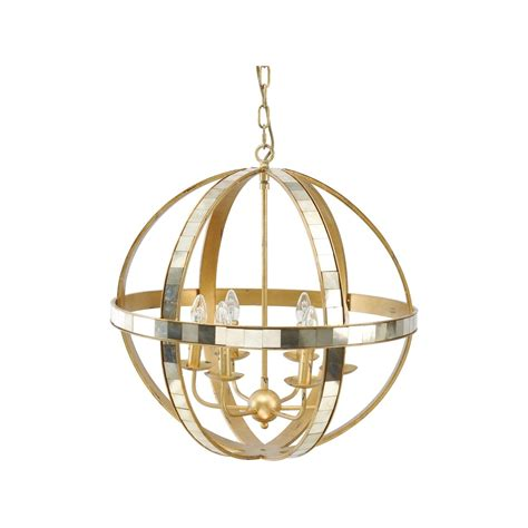 Gold Orb Chandelier Modern Ceiling Light Swanky Interiors Orb Chandelier