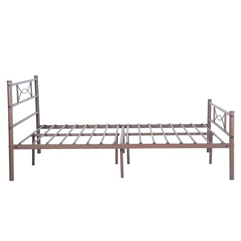 twin size platform bed frame bedroom foundation furniture black white brown gray ebay twin full size bedroom metal bed frame platform mattress