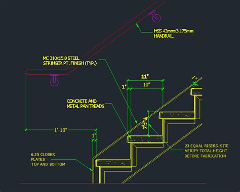 Floor Plan Single Storey House by Tread Riser Detail Dimensions Cad Files Dwg Files