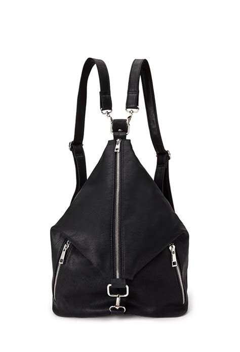 Forever21 Does Marc Hudson Handbag by Forever 21 Convertible Zip Front Backpack In Black Lyst
