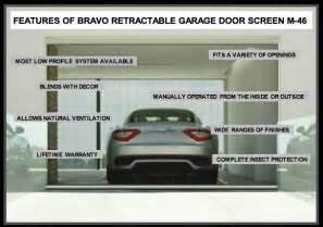 Garage door screens retractable screen by bravo