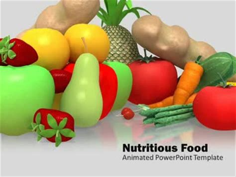 Nutritious Healthy Food A Animated Powerpoint Template From Presentermedia Com Healthy Food Powerpoint Template
