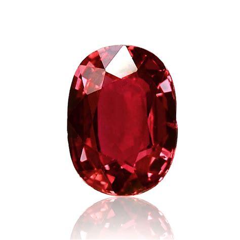 Ruby Rubi 1 62 carat mozambique ruby oval shape no evidence