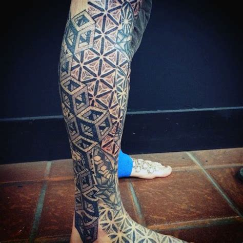 geometric leg tattoos all black sacred geometry tattoos for guys on legs