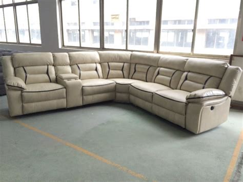 sectional sofa with console corner sofa furniture air leather motion sectional sofa