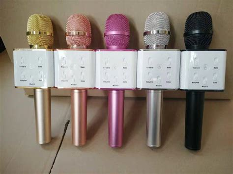 New Mic Karaoke Bluetooth Build Speaker Bisa Ke App K microphone bluetooth ktv q7 alat karaoke praktis tanpa kabel