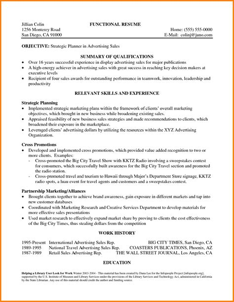 cv format qualifications 8 statement of qualifications sle template case
