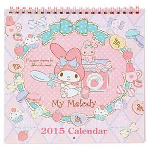 my melody wall calendar m medium size 2015 sanrio japan