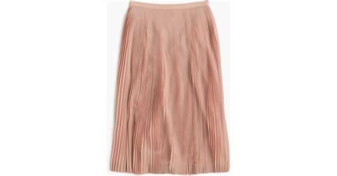 j crew micro pleated midi skirt in pink lyst