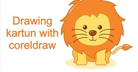 tutorial gambar singa 10 menit cara membuat kartun singa dengan coreldraw