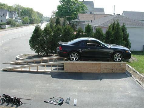build a car workshop check out this home made all wood car lift the garage