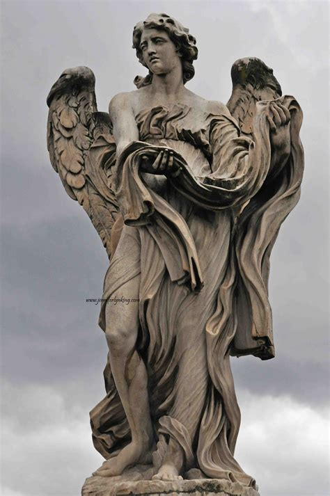 angel sculptures ponte sant angelo bridge of angels rome jennifer lyn king