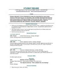 Resume Sles For College Students With Experience Student Internship Resume No Experience