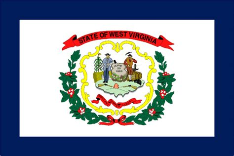 west virginia flag state map modern style by allchalkboard the west virginia state flag