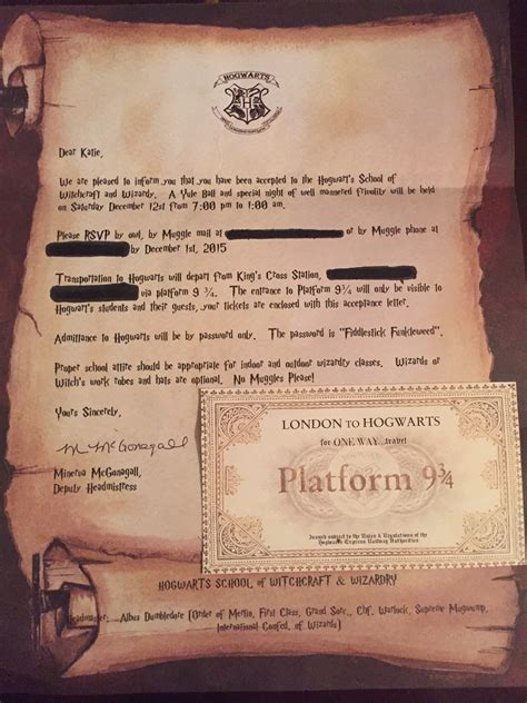 Harry Potter Acceptance Letter Birthday Invitation A Harry Potter Yule The Leaky Cauldron Org 171 The Leaky Cauldron Org