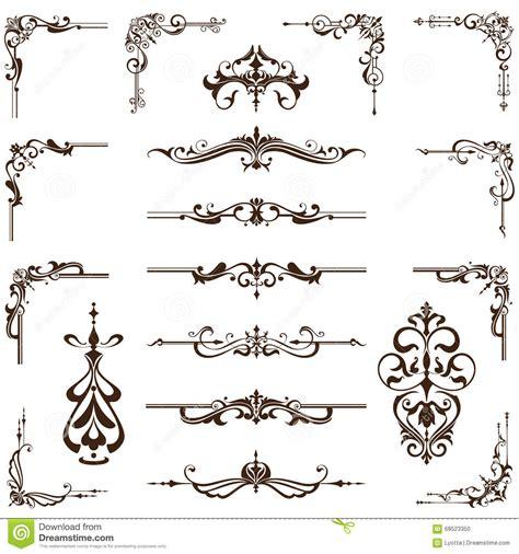vintage design elements corners vector free frames and borders vintage decorative vector vector