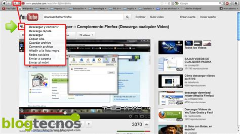 download youtube helper blog tecnos descargar videos de youtube en firefox