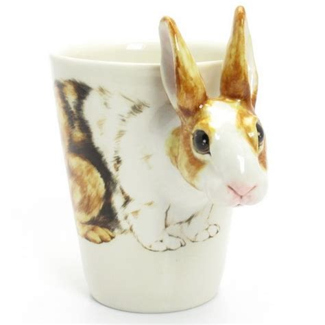 You Bunny Ceramic Mug rabbit mug ceramic 3d coffee cup lovely bunny gifts 00014 madamepomm pets on artfire